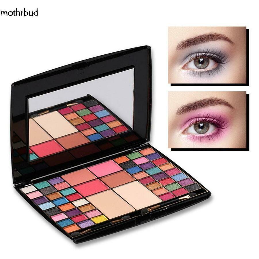 48 Colors Eye Shadow Palette Kit Blusher Shining Glitter Eye