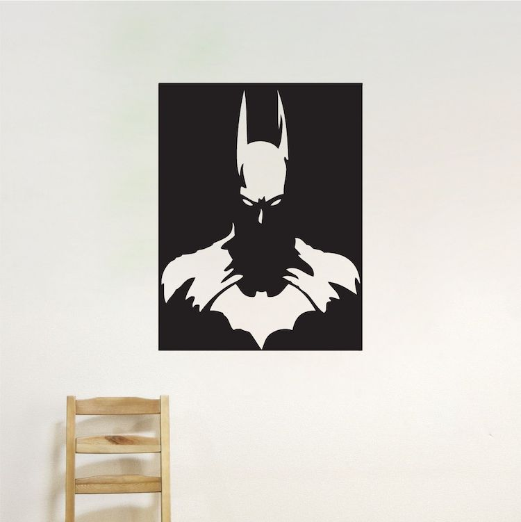Batman Vinyl Wall Decal _ Batman Posters Wallpaper _ Superheroes_ Boys Room  Super Man Wall Sticker