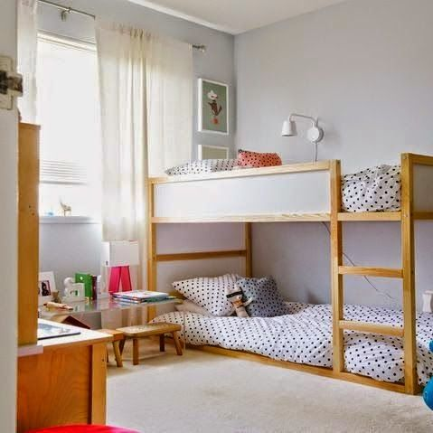 The Boo And Boy Ikea S Kura Reversible Bed Kids Rooms Shared