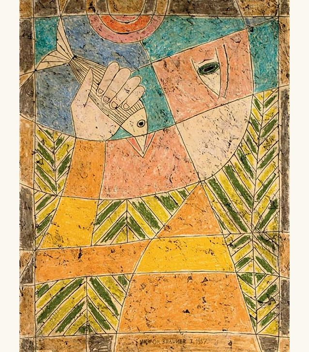 "lilithsplace: ""'The Fisherman', 1957 - Victor Brauner (1903–1966) """