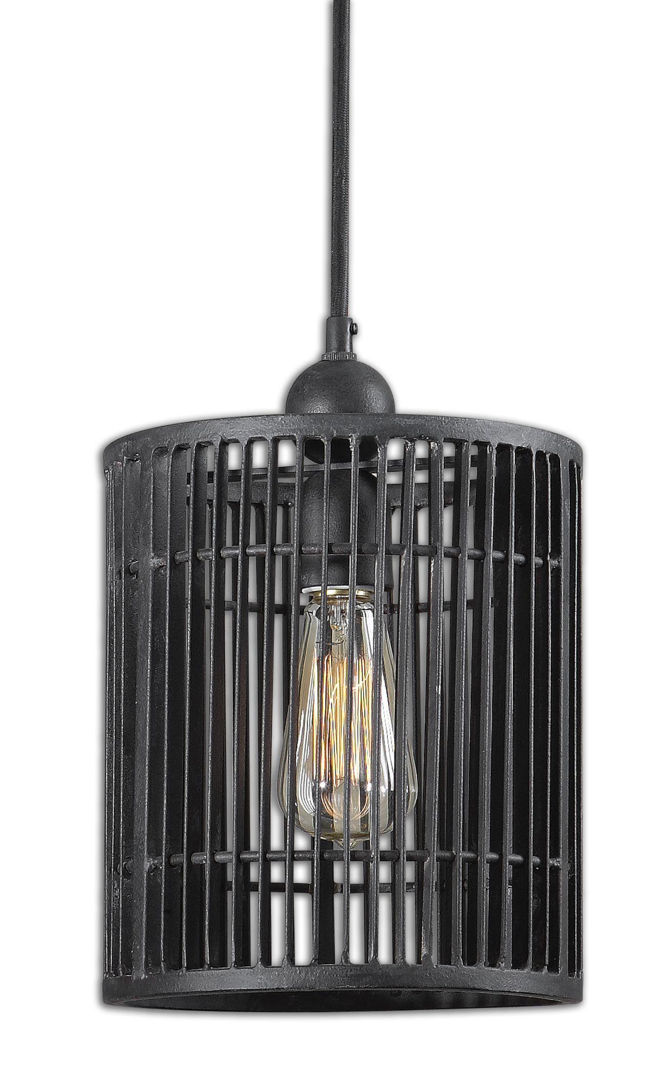 Uttermost Bronson 1 Light Mini Pendant 21980