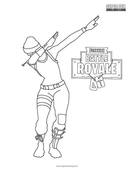 Fortnite Dab coloring page Super