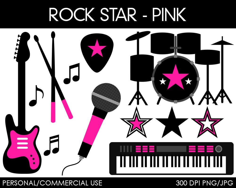 rock and roll clip art clipart and vector collection [ 1000 x 795 Pixel ]