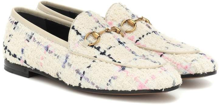 8b33d9bed3 Gucci Jordaan checked tweed loafers | Products in 2019 | Gucci ...
