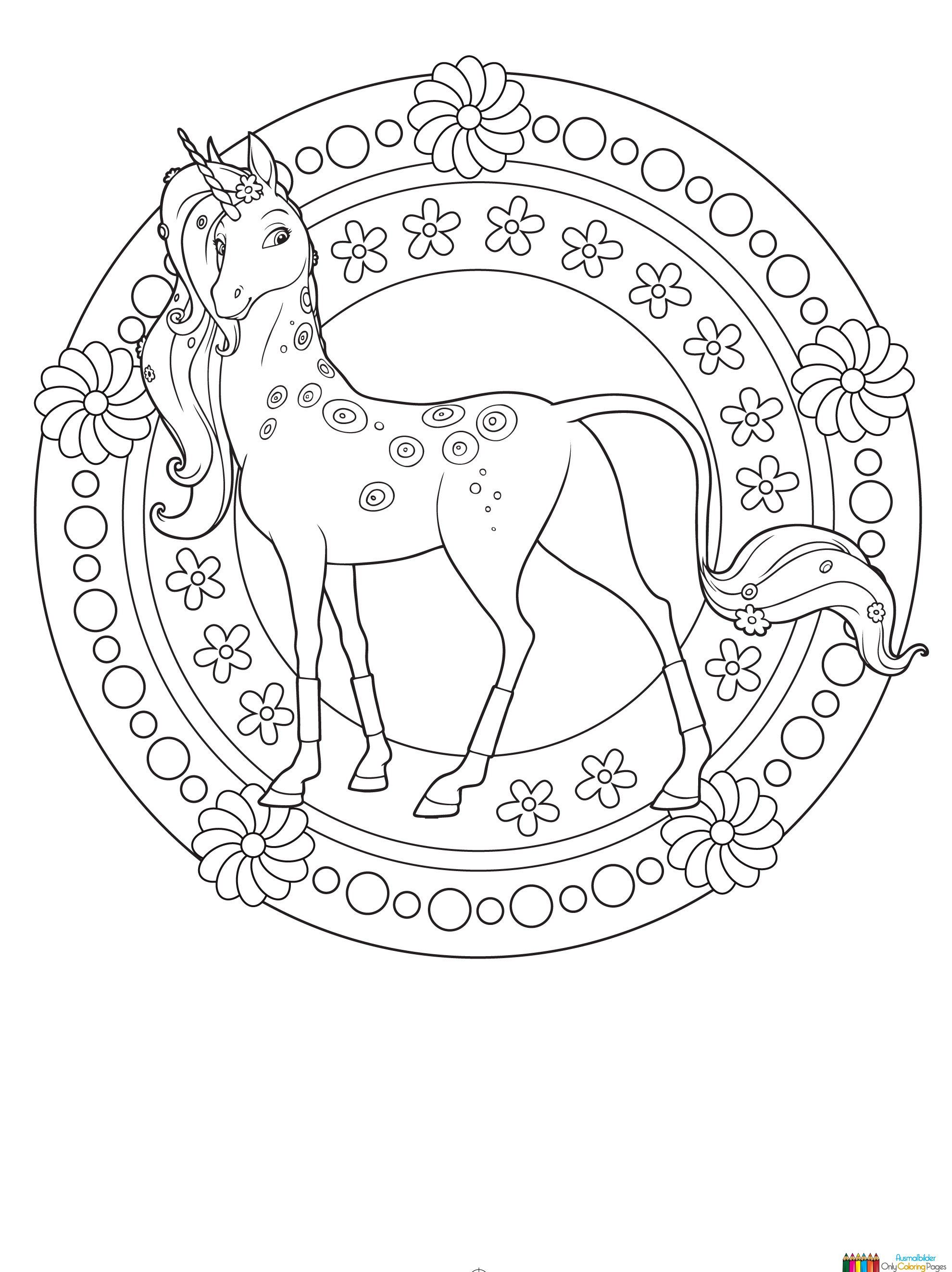 Onchao Unicorn Coloring Pages