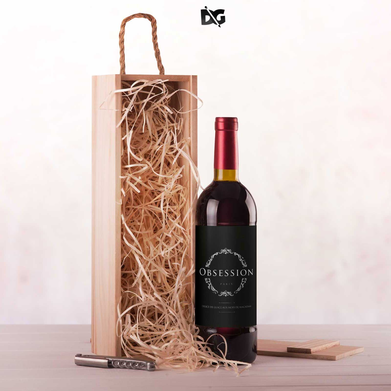 Download In Order To Help You Present A Logo Design Mockup To Your Client In A Super Polished Way We Ve Gathered The Wi Packaging Labels Mockup Free Psd Wine Packaging