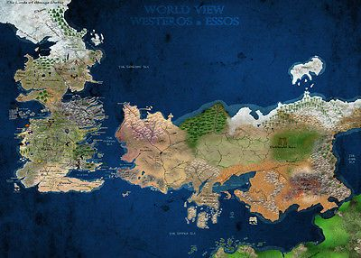 A3 game of thrones world view westeros essos map poster gotw01 a3 game of thrones world view westeros essos map poster gotw01 buy 2 get 1free art posters art gumiabroncs Images