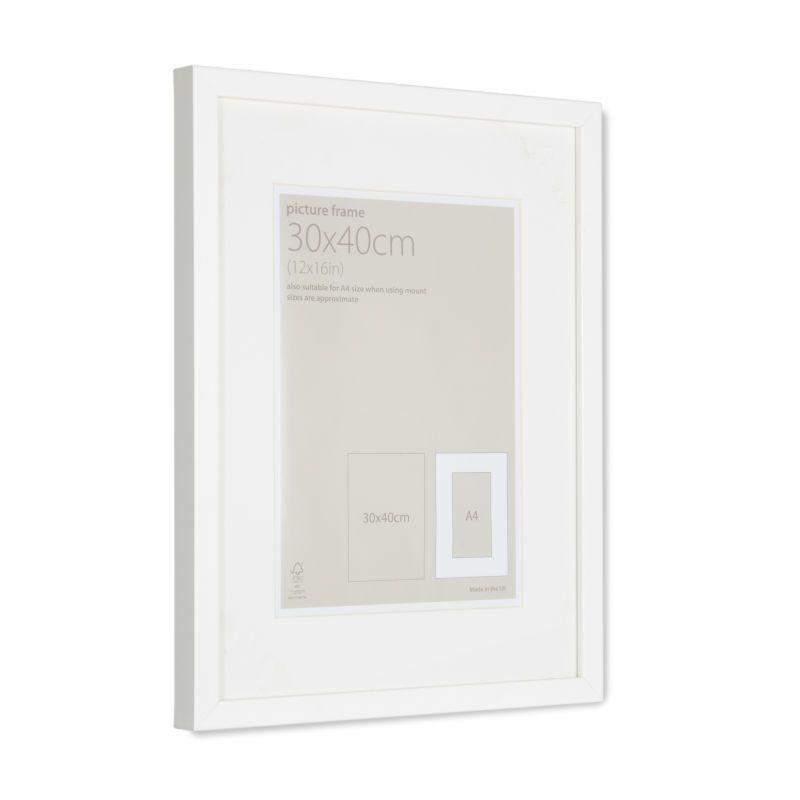 Hobbycraft White Picture Frame 30 Cm X 40 Cm 10 White Picture Frames White Frame Picture Frames