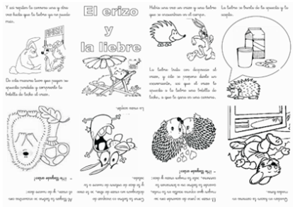 """Se trata de una ficha para montar un pequeño libro de lectura. En el artículo """"Fabricamos un pequeño libro"""" se especifica mediante un vídeo, imágenes y texto cómo montarlo. """"LA ARDILLA SOLITARIA"""" """"LA ABEJA LADRONA"""" """"AMIGOS DE COLORES"""" """"LA MUÑECA AZUL"""" """"EL ÁRBOL MÁGICO"""" """"EL ERIZO Y LA LIEBRE"""" """"LA …"""