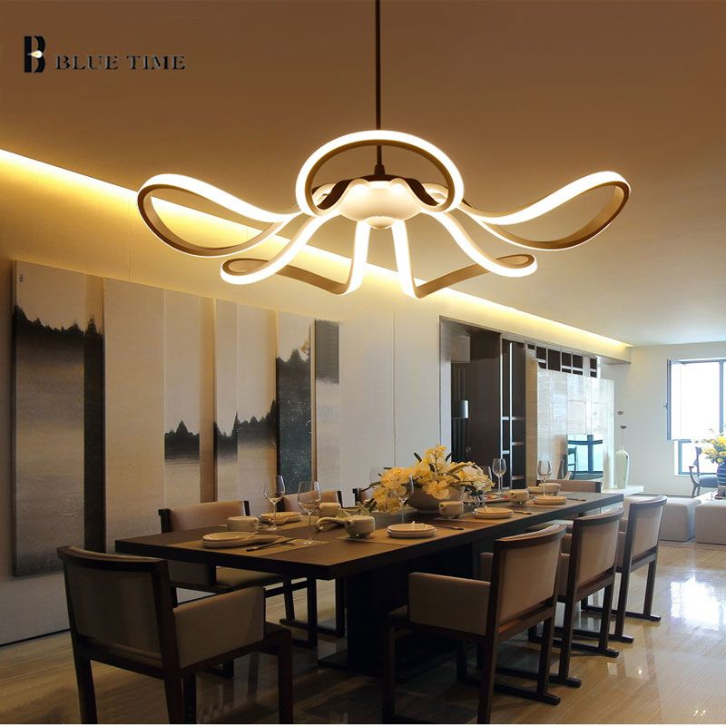 65w d55cm new modern style led pendant lights living room lounge restaurant light home indoor lighting - Pendant Light In Living Room