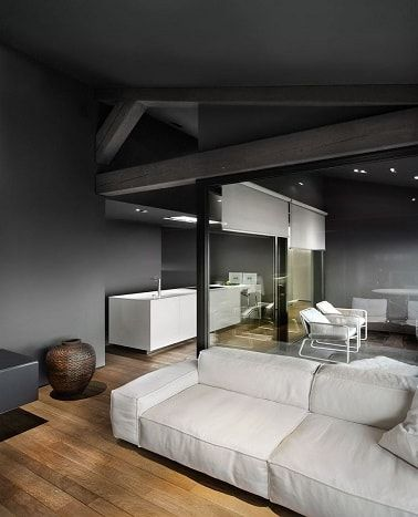 peinture 10 d co chic en gris anthracite le gris dans la d coration pinterest plafond. Black Bedroom Furniture Sets. Home Design Ideas