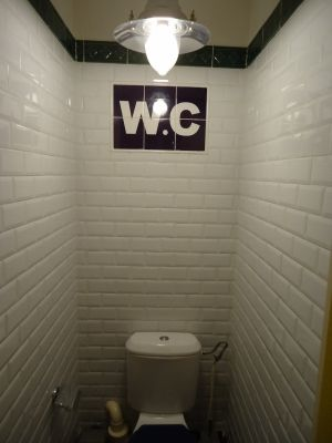 Wc metro parisien home inspo pinterest for Pose de carrelage metro