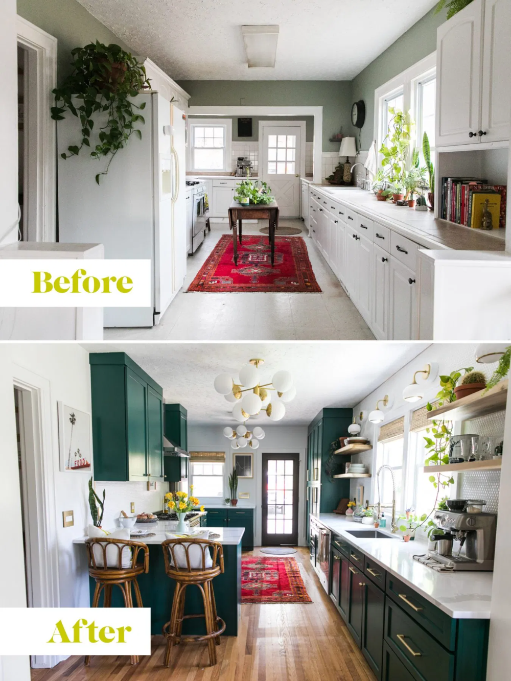 One Room Challenge - Green Kitchen Glamazon - The Reveal