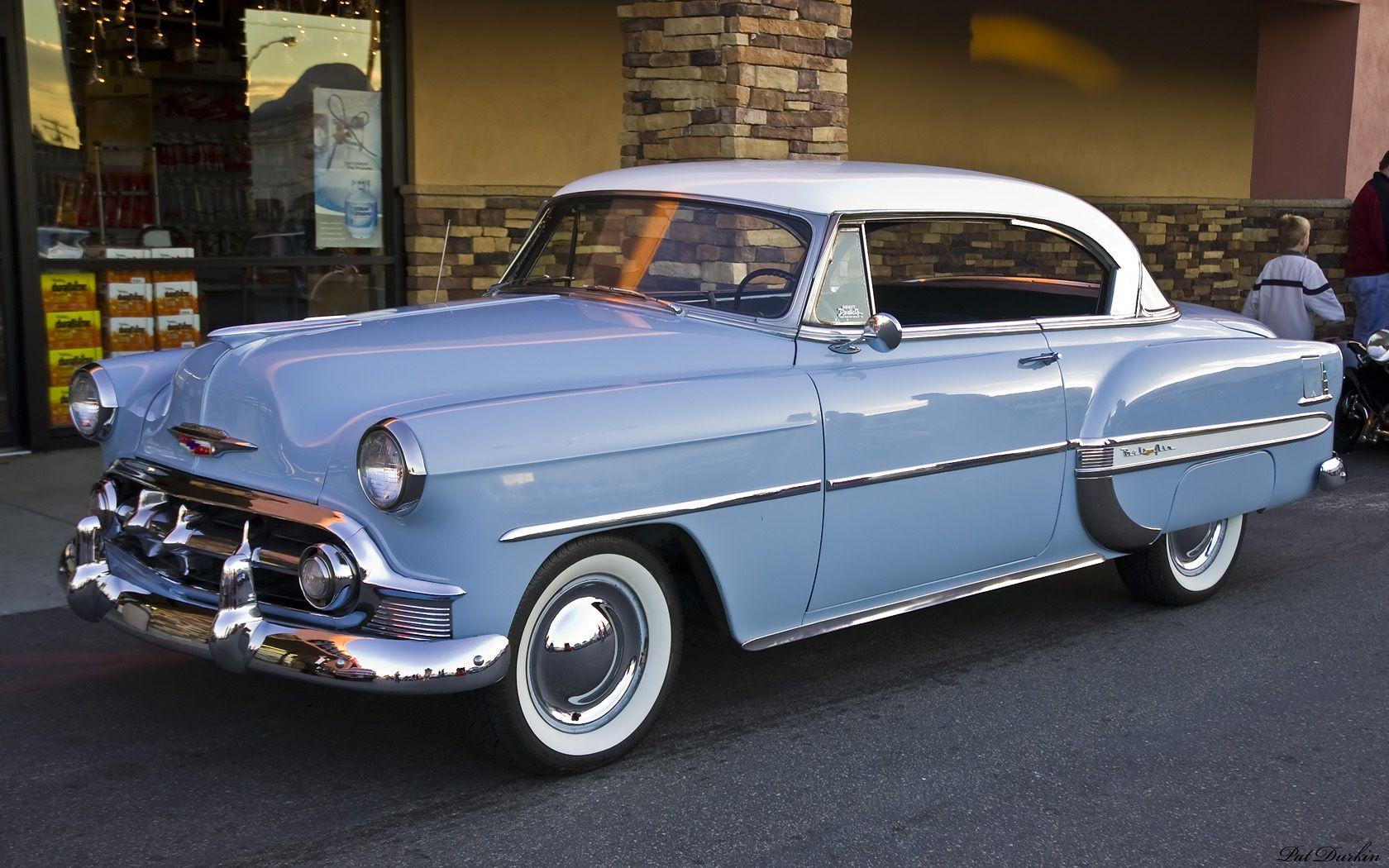 1953 Chevrolet Bel Air Ht White Over Light Blue Fvl Chevrolet Bel Air Classic Cars Chevrolet