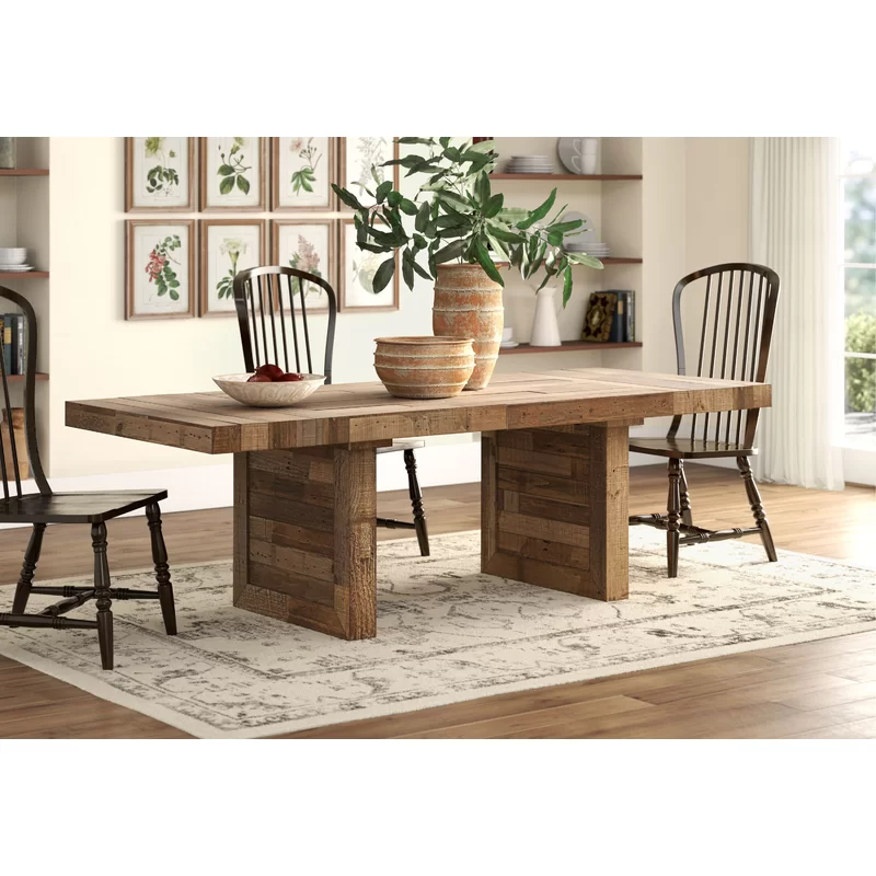 Triston Extendable Solid Wood Dining Table Reviews Allmodern Solid Wood Dining Table Dining Table Wood Dining Table