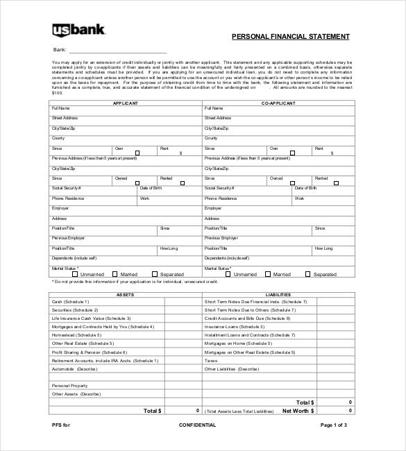 11+ Financial Report Templates - Free Sample, Example, Format - sample personal financial statement