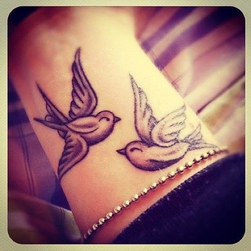 Love Birds Tattoos Designs On Hand Hand Tattoos Of Cute Love Birds Pair Love Birds Designs Tattoos Tattoo Designs For Girls Tattoos Wrist Tattoos
