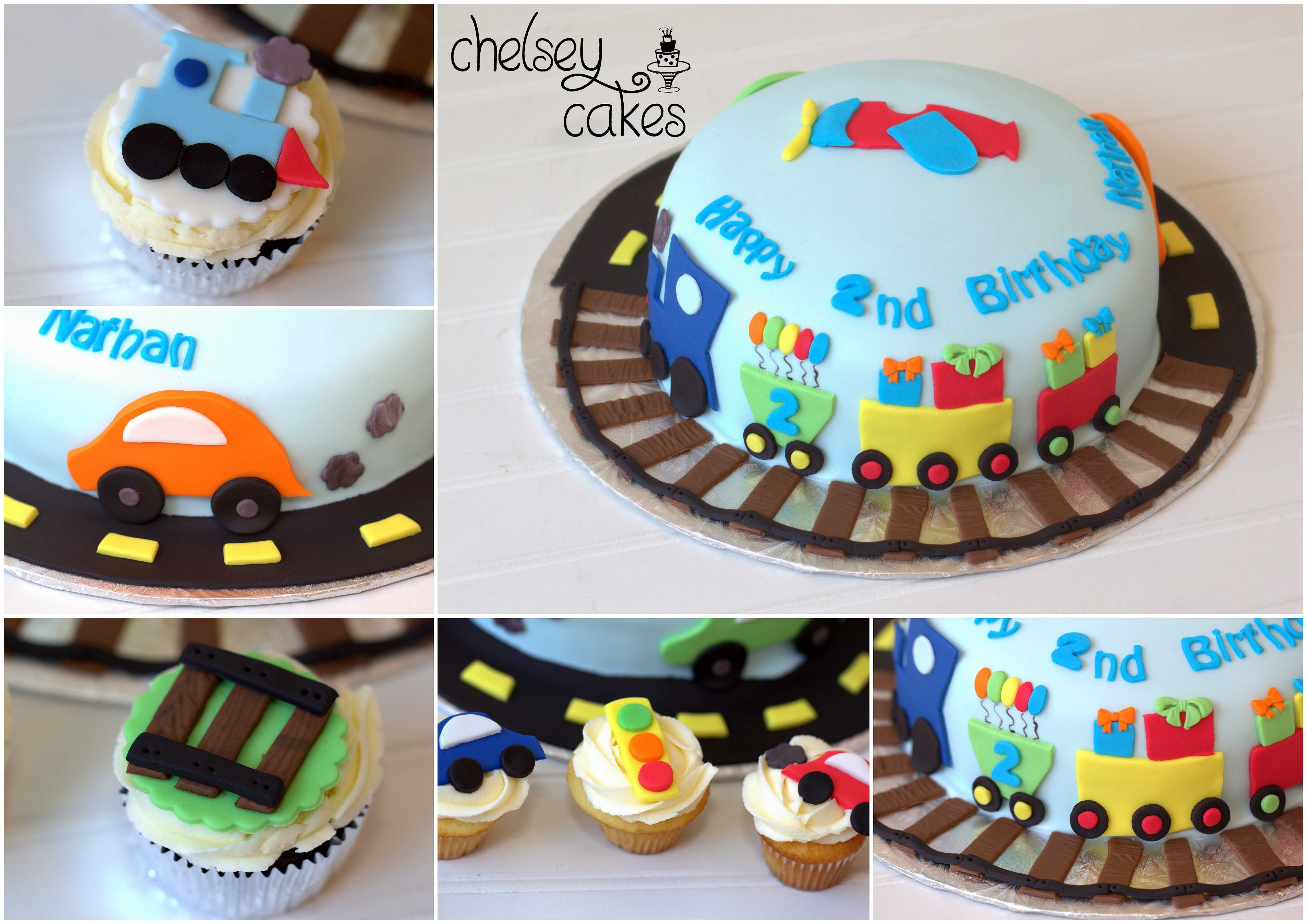 Transportation Cake And Cupcakes Truck Birthday Cakes Easy Kids