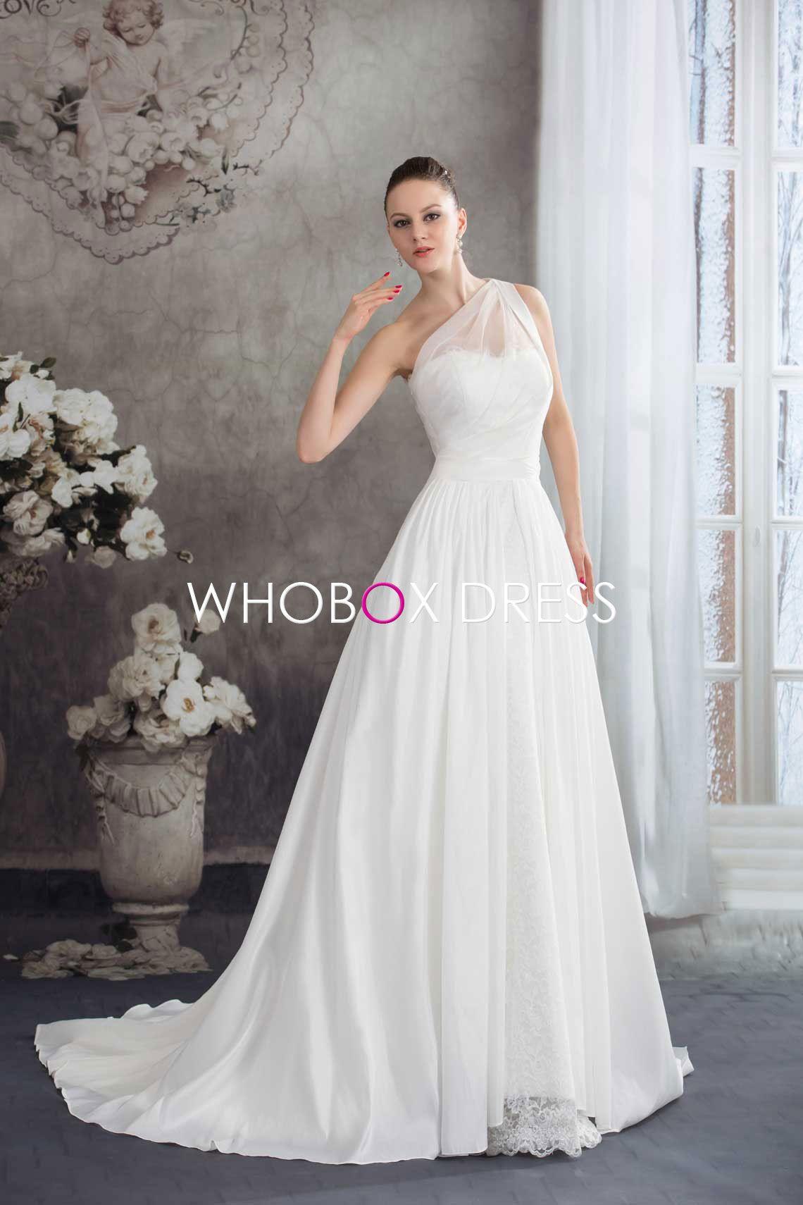 One shoulder wedding dress wedding dress ideas pinterest