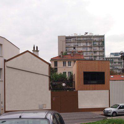 Extension et surélévation d\u0027une maison de ville à Bagnolet Roof