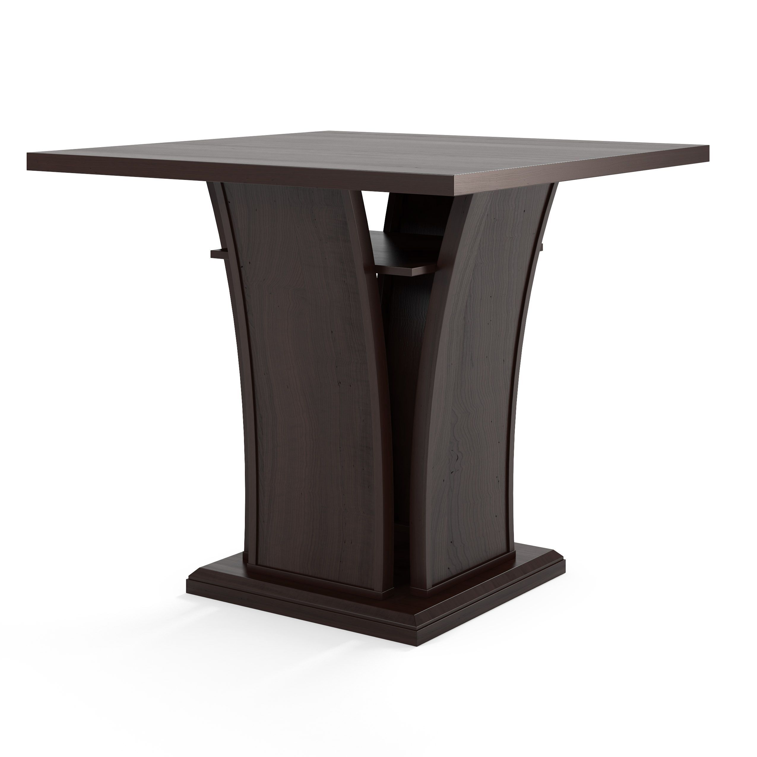 CorLiving Bistro Counter Height Cappuccino Dining Table with Curved