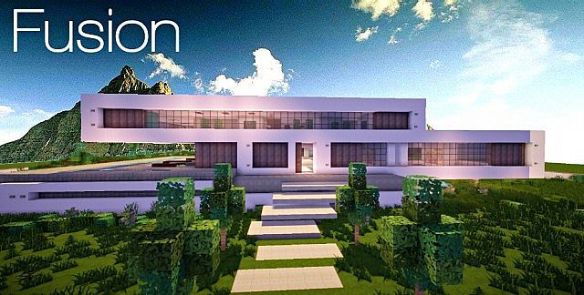fusion | a modern concept mansion | minecraft house design