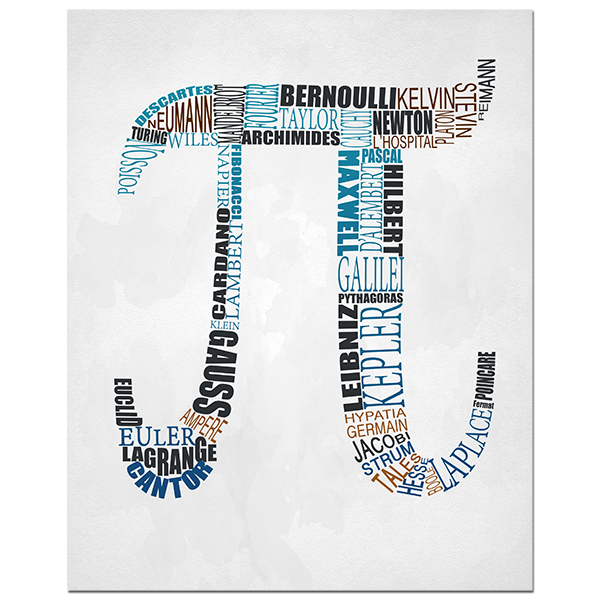 Gorgeous Typographical Representation Of The Mathematical Symbol Pi