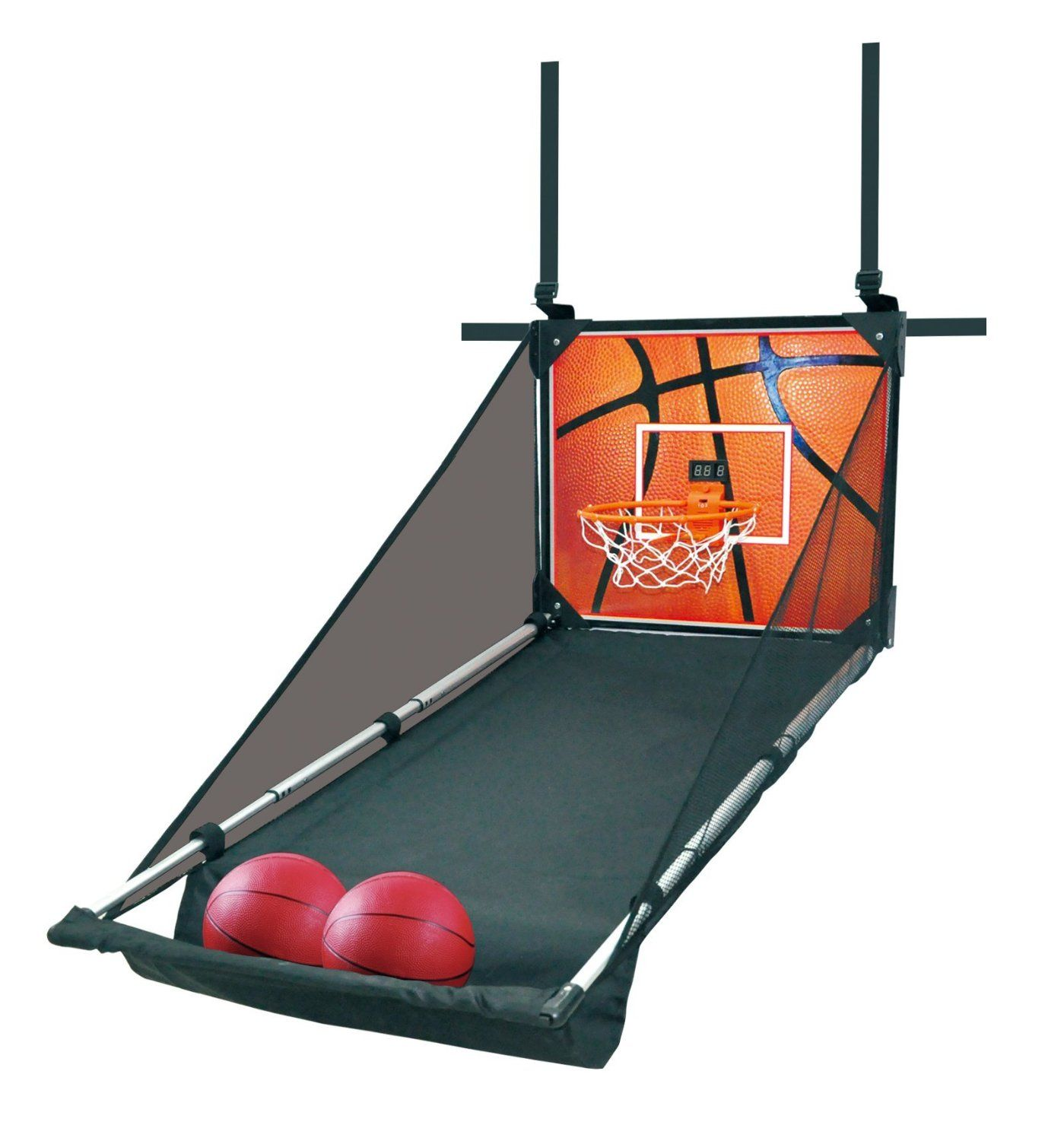 sportshero indoor rebound hanging basketball hoop game set includes