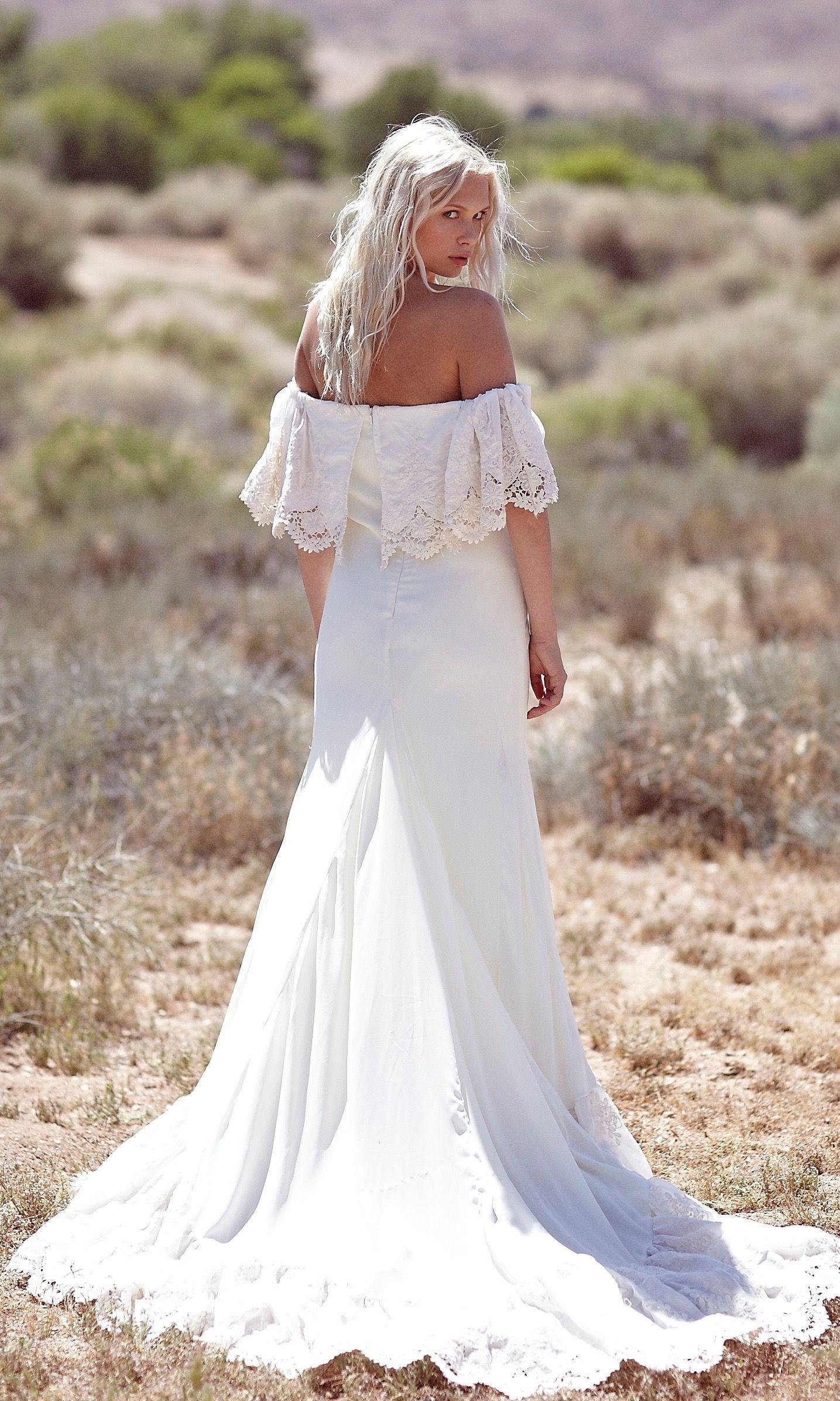 Lu Wedding dresses, 1970s wedding dress, Bohemian