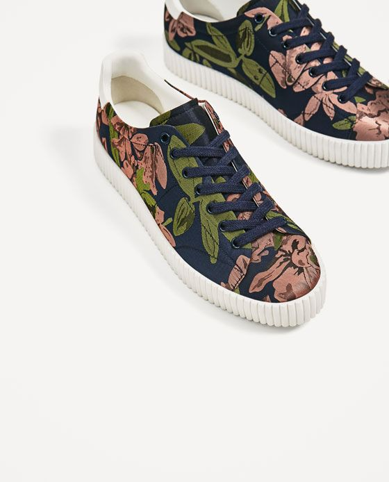 e5870c55a Image 3 of FLORAL PRINT PLIMSOLLS from Zara | Sneakers△ | Floral ...
