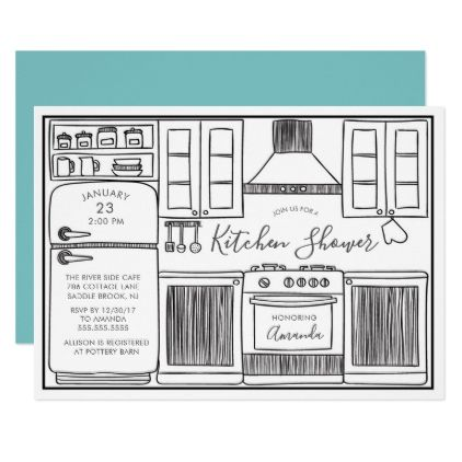 Fun Stock The Kitchen Shower Invitations wedding invitations cards