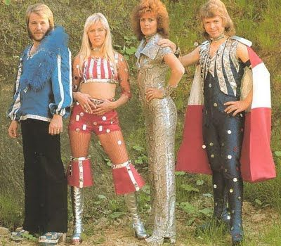 Abba, the kings and queens of kitsch. And we LOVED them! Even back in the 70s, you had to have attitude to appear in public dressed like that...
