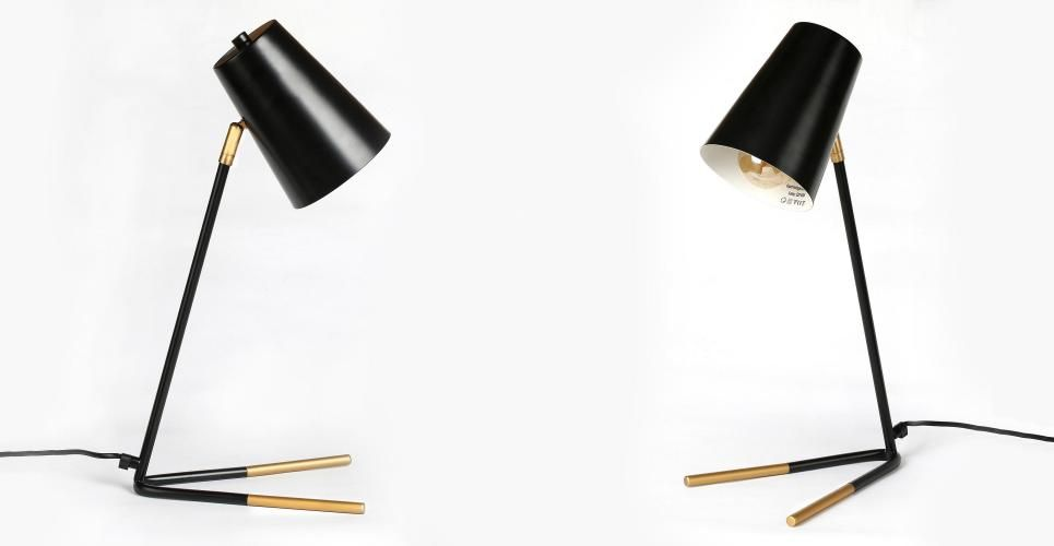 The Penguin Lampe de table laiton et noir