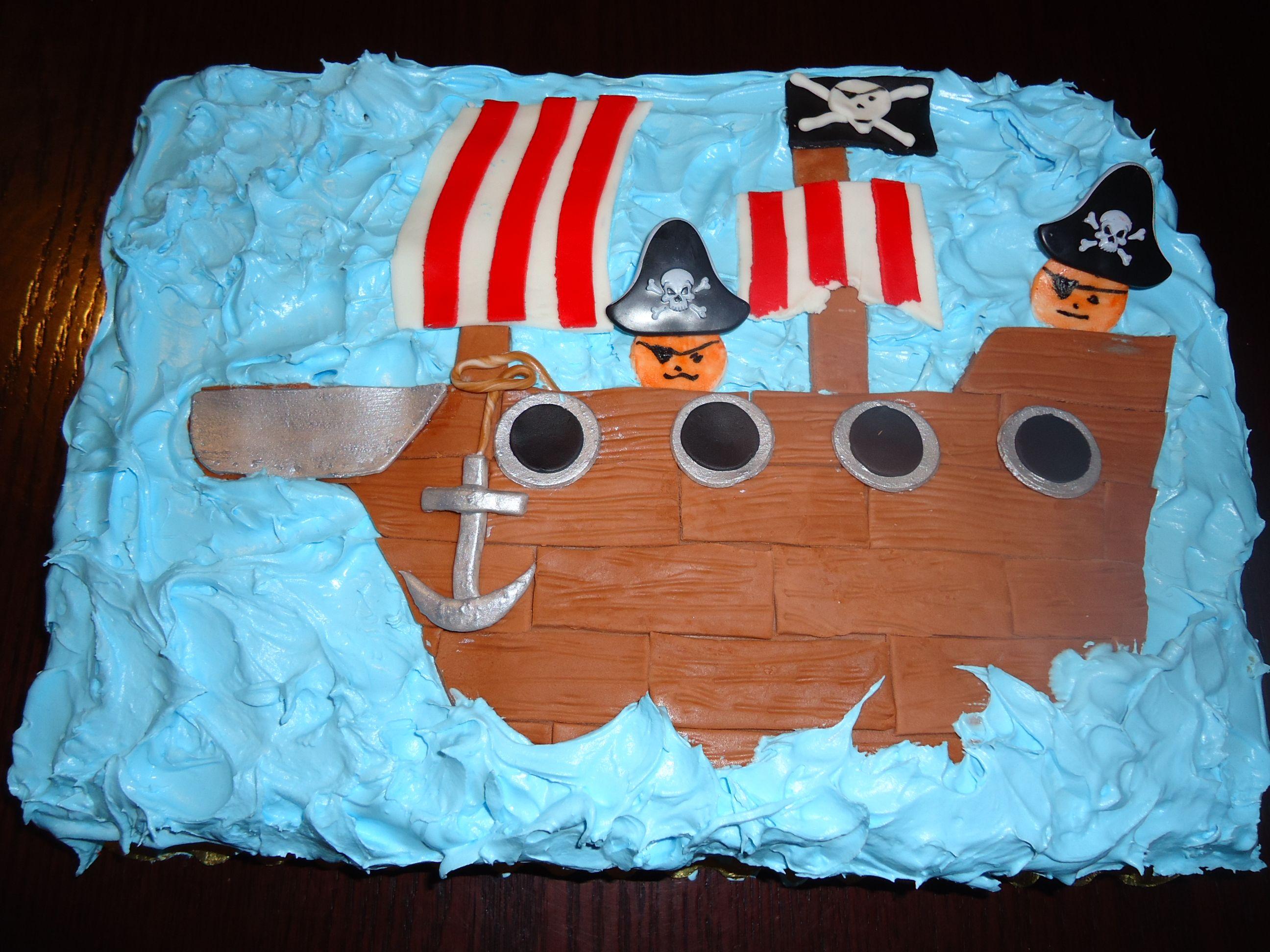 Pirate Ship Birthday Cake Soiree Pinterest Pirate ships