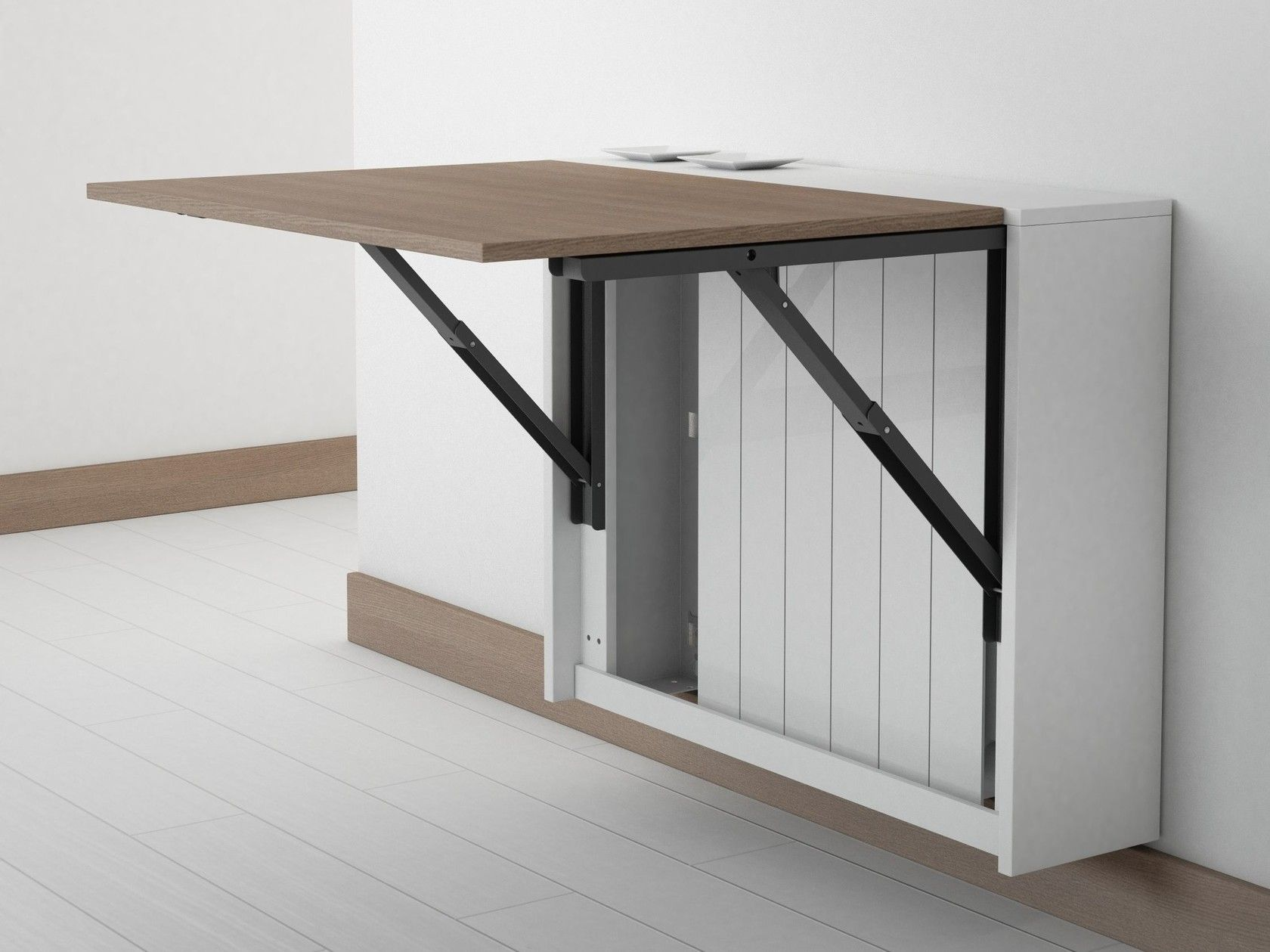 Wall mounted drop leaf table BLOCK