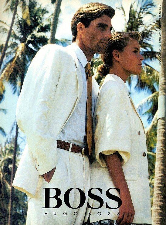 Hugo Boss 1987 ss Photo Bob Krieger Models Michael Flinn ...