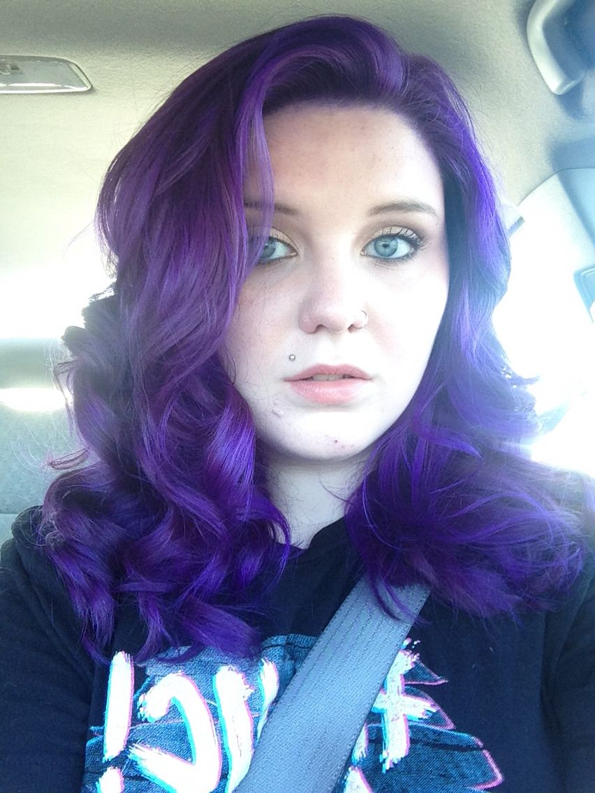 When I First Dyed My Hair Purple Pravana Hair Color At Ulta Salon Pravana Hair Color Hair Color Brands Salon Hair Color