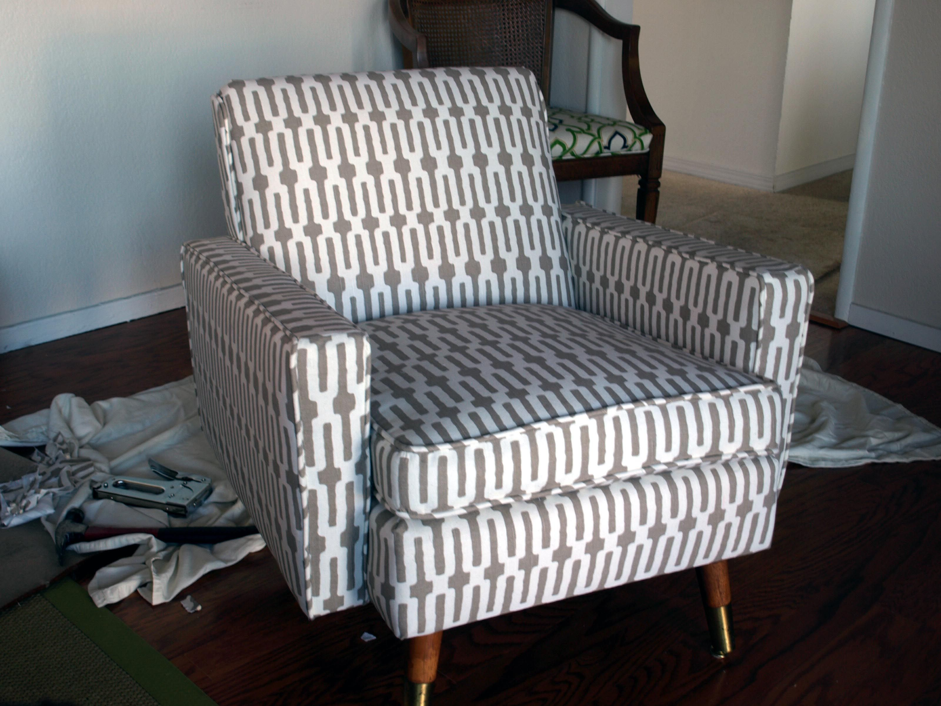 How To Reupholster a Mid Century Chair