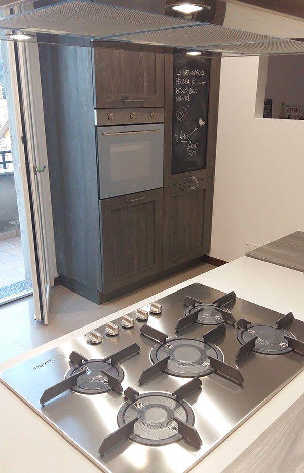 cucina Stosa modello City colore rovere Jeans e rovere bianco ...