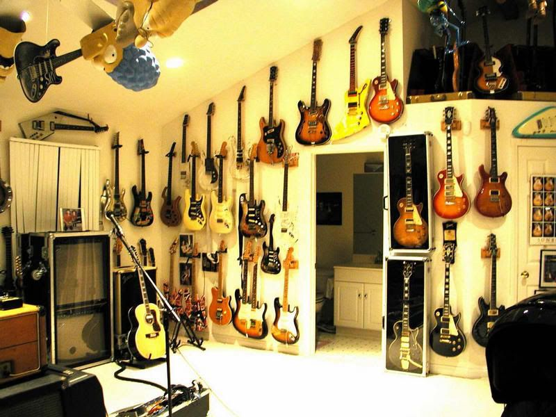 Man Cave Post Your Guitar Rooms