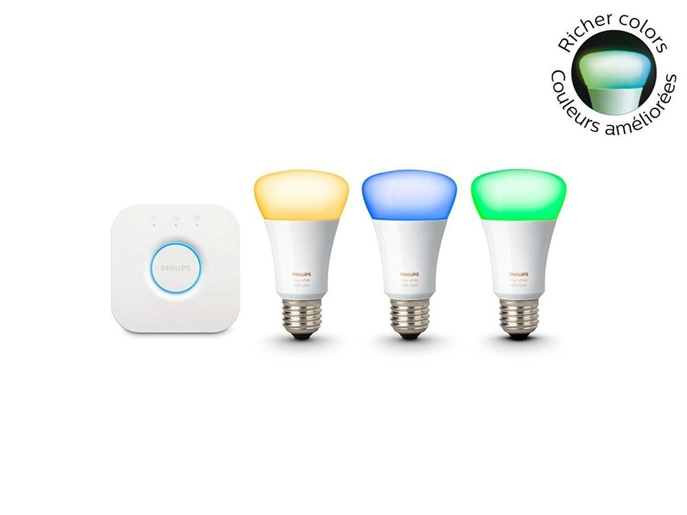 Philips Hue 3rd Generation White and Color A19 Starter Kit