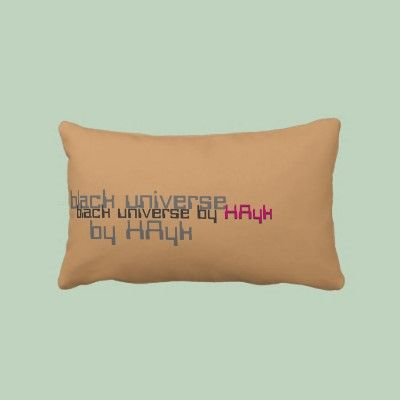 """Back side of my pillow """"Black Universe. Avaliable on zazzle for sale. $52.90"""