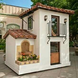 Spanish Style Miniature Playhouse Play Houses Build A Playhouse