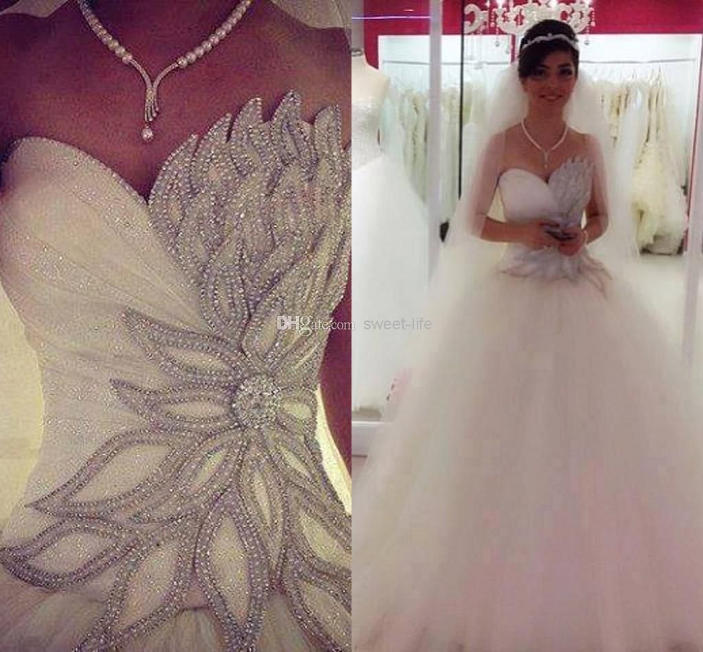 Lace and bling wedding dresses