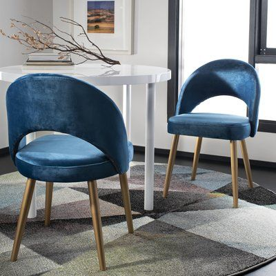 Foundstone Greta Retro Upholstered Side Chair Dining Chairs