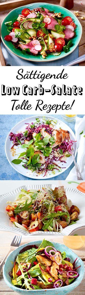 low carb salate tolle rezepte mit k stlichen dressings pinterest salat lowcarb abendessen. Black Bedroom Furniture Sets. Home Design Ideas