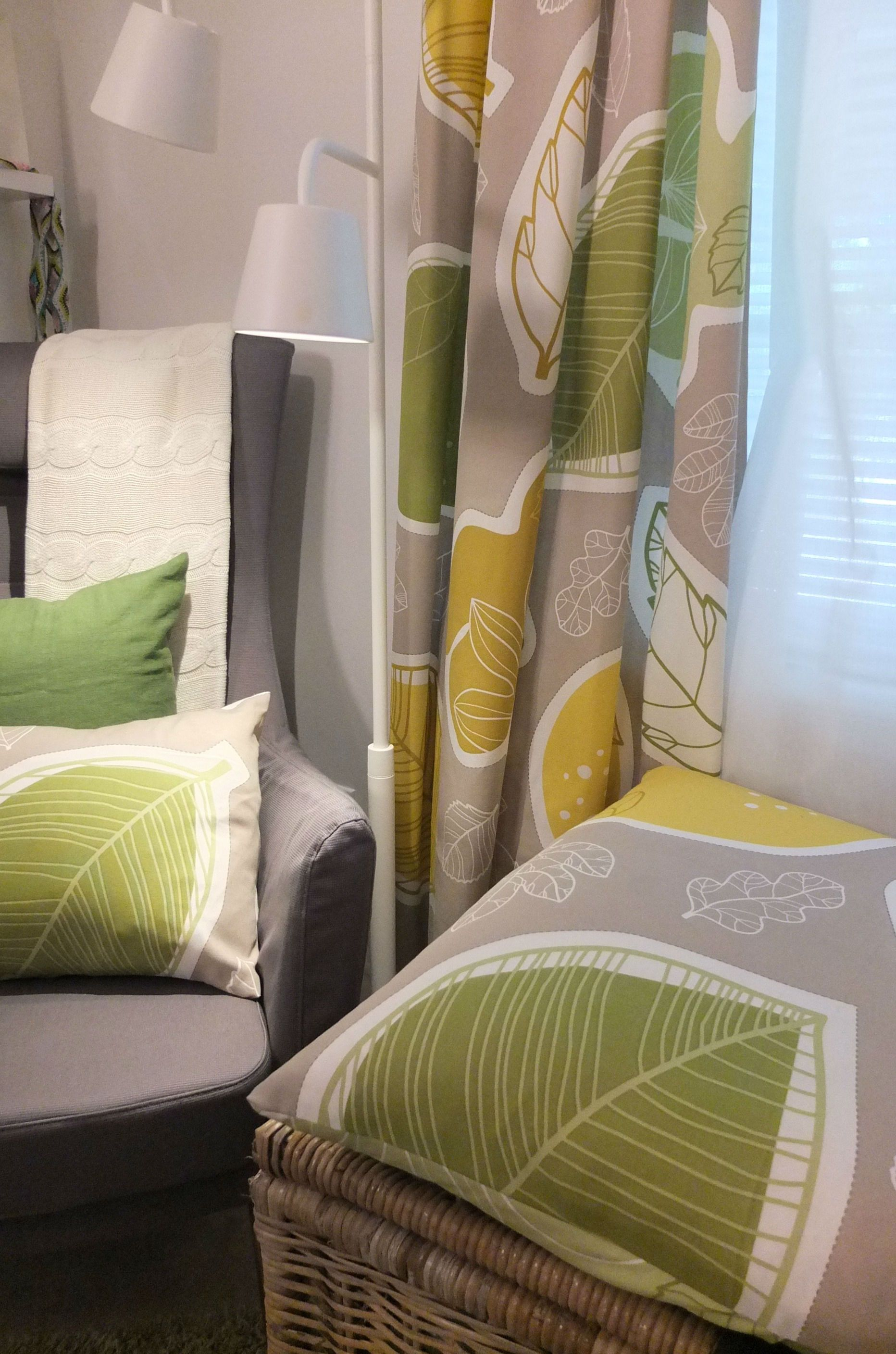 With the GURINE by-the-yard fabric you can create curtains, cushions and more!