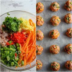 Low Carb Gluten Free Thai Meatballs. serve with deconstructed egg roll as a side(?)