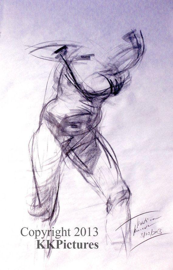 Man/Sketch/Original Sketch by K.Kucera by KKPictures on Etsy, $90.00