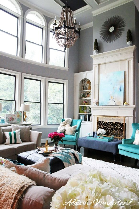 My Dream Living Room  Living Room Fireplace Colorful Living Unique Light Colored Living Rooms 2018